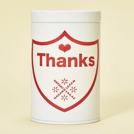 新米!コタキホワイトギフトCAN「Thanks」ラベル ギフトボックス(3個入)