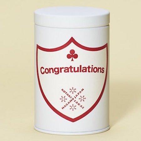 新米!コタキホワイトギフトCAN「Congratulations」ラベル