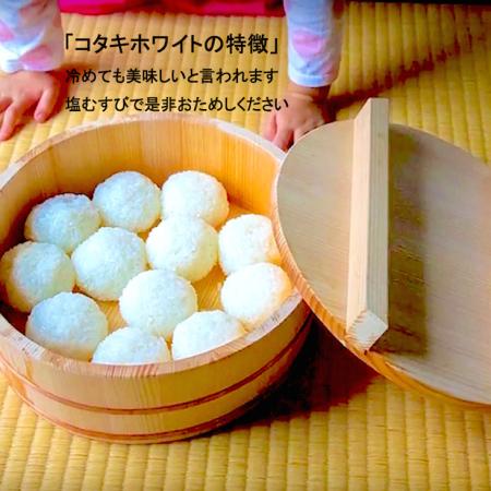 新米!コタキホワイト白米 2kg袋 (10月中旬より配送予定)