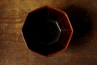 10角鉢 飴釉