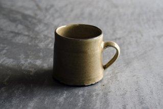 黄釉粉引きマグカップ