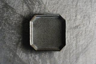 長石釉 隅入角皿