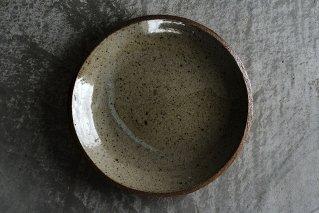 並白釉 8寸丸皿(薪窯)