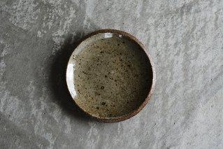 並白釉 4寸丸皿(薪窯)