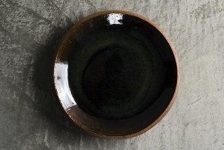飴釉 8寸丸皿(薪窯)