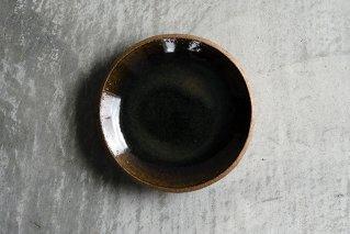 飴釉 6寸丸皿(薪窯)
