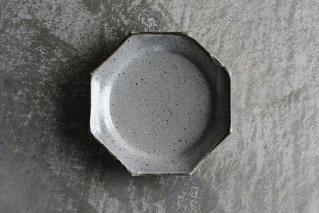 泥並釉 オクトゴナル5寸皿