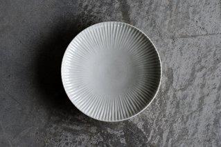 白磁 しのぎ5寸皿