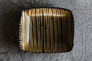 スリップウェア 長角鉢(中)B