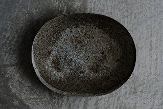 焼しめ楕円皿