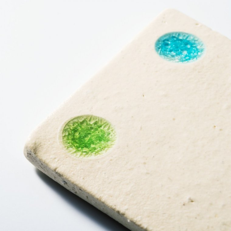 陶器と琉球ガラスの表札