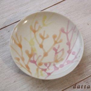 やちむん小皿|珊瑚プレート/4寸/白色/おしゃれな皿の通販