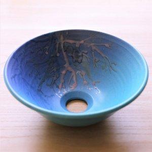 手洗いボウル/珊瑚の手洗い鉢/沖縄陶器やちむん/おしゃれ/ NO-4