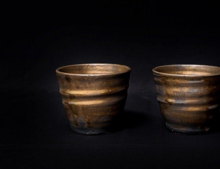 陶器のロックカップ