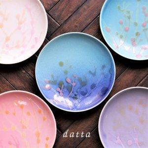 縁起の珊瑚のやちむん小皿 5枚セット 沖縄 結婚祝い珊瑚の縁起のプレート 4寸皿
