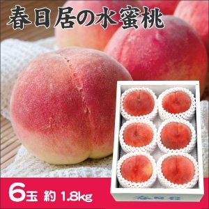 【お中元・夏の贈り物に】春日居の桃 6玉 (1.8kg) 【お届け期間 7月上旬〜8月上旬】