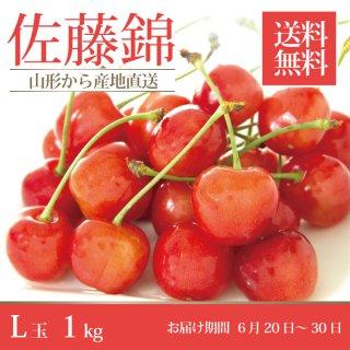 山形県産さくらんぼ「佐藤錦」秀品L玉500g×2バラ詰