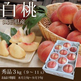 山形県産 白桃 3kg 【残暑見舞】【敬老の日】