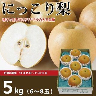 栃木のにっこり梨5kg(6〜8玉)