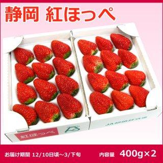12月からお届け【ギフト向けに最適な最上位等級】静岡県産紅ほっぺDX 2P