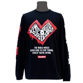 XE カオスハート ロングTシャツ(ブラック)<br>【A/W】