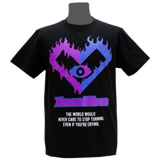 XE2019 ファイヤーTシャツ(ブラック・ 青紫)<br>【XE S/S2019】