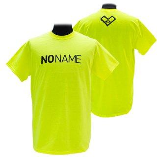 XE2019 NO NAME Tシャツ バックプリント(蛍光イエロー)ギルダン<br>【N/N】