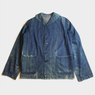 40's DENIM SHAWL COLLAR JKT