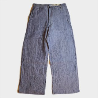 50's FRENCH MARINE LINEN PANTS
