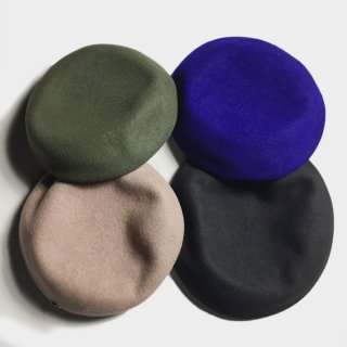 WOOL BIG BERET (4 COLORS)