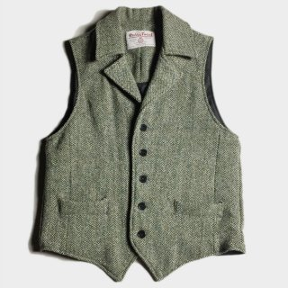 HARRIS TWEED LAPEL VEST (M)