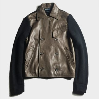 MOTORCYCLE LEATHER KNIT JKT (M)