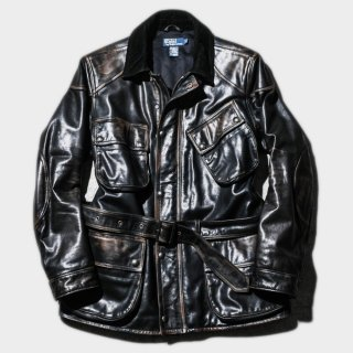 LEATHER MOTORCYCLE JKT (L)