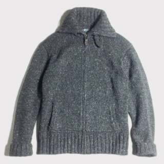 HI NECK ZIP UP KNIT (L)
