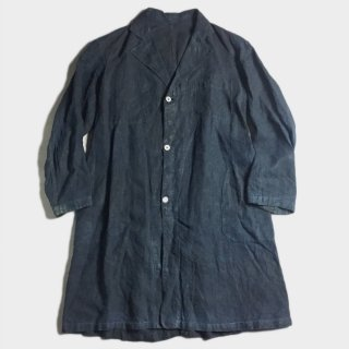20's INDIGO FRENCH LINEN COAT