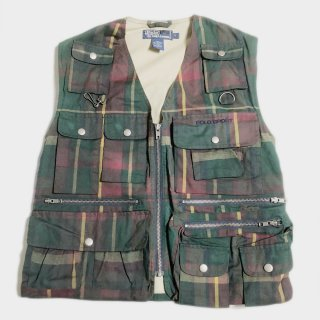 OILED CHECK HUNT VEST (S)