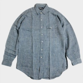 LINEN STRIPE SHIRTS (M)