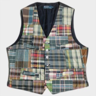 PATCHWORK CHECK VEST(L)