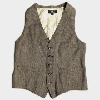 HOUNDTOOTH WOOL VEST(L)