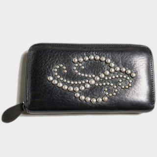 STUDS LEATHER WALLET(PURPLE .L)