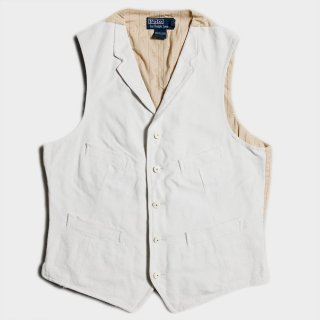 CANVAS LAPEL VEST(M)