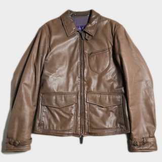 TYPE A-2 LEATHER JKT(PURPLE.L-S)