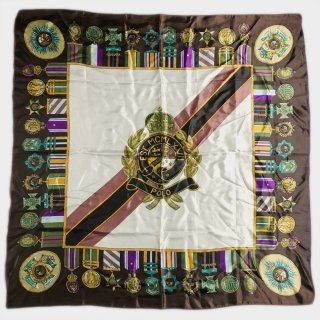 90's BIG SILK SCARF(CREST)