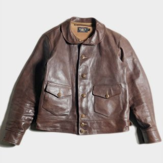 LEATHER COSSACK JKT(DEAD-M)