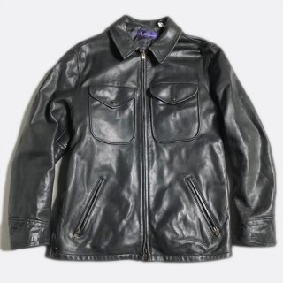POLICEMAN LEATHER JKT(PURPLE.L)