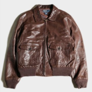 LEATHER A-2 JKT (L)