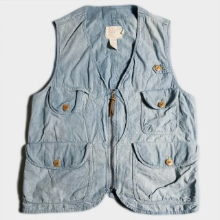 CHAMBRAY HUNTING VEST(M)