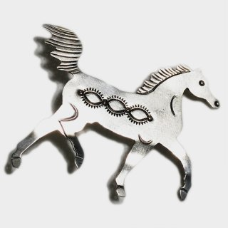 60's NAVAJO HORSE BROOCH