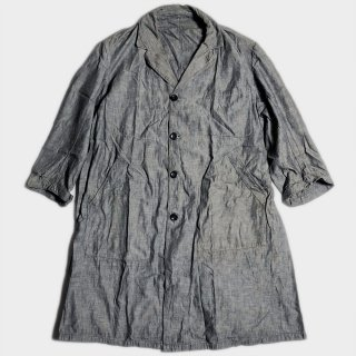 40's FRENCH CHAMBRAY LINEN COAT
