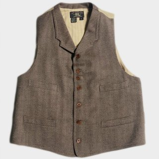 H. WOOL LAPEL VEST(USA-L)